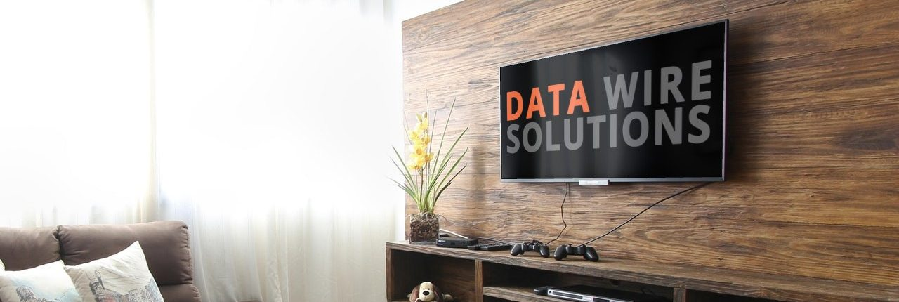 Flat Screen TV Wall Mounted by Data Wire Solutions